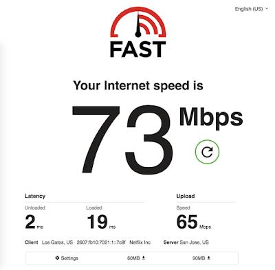 تطبيق FAST Speed Test