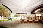 Оформление крыши тканью Ресторан Венский
