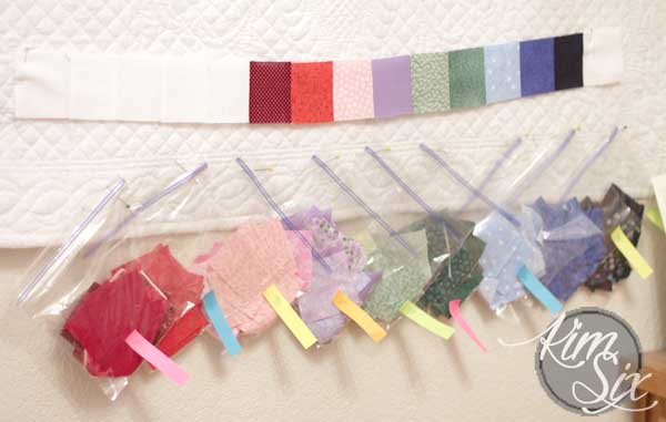 A quilt where each color indicates average temperature