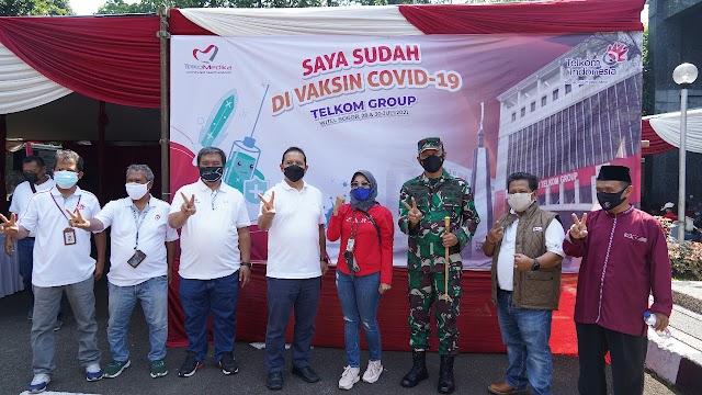 Serbuan Vaksinasi Korem 061/Sk Satu Hari Mencapai  22.690 Masyarakat Yang Divaksin