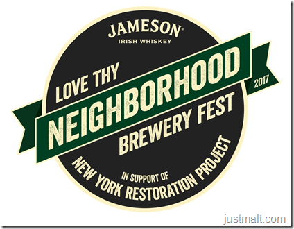 Jameson® Irish Whiskey And New York Restoration Project Launch Jameson Love Thy Neighborhood Brewery Fest To Support New York Restoration Project, A First-Of-Its-Kind Craft Beer And Whiskey Festival
