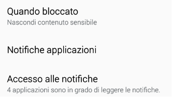 Accesso alle notifiche Android