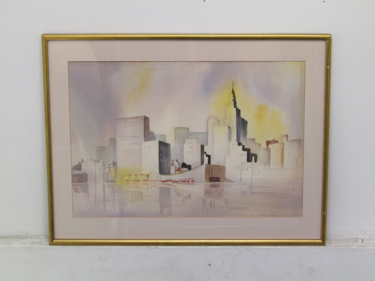 Mimi Chan Skyline Watercolor
