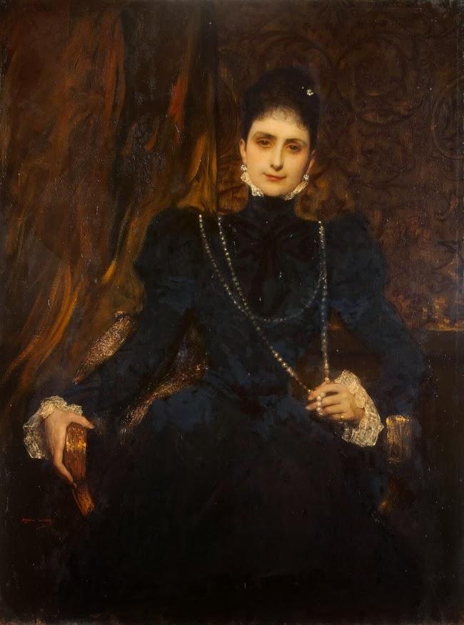 Jean-Joseph Benjamin-Constant - Portrait Of Mme M. S. Derviz