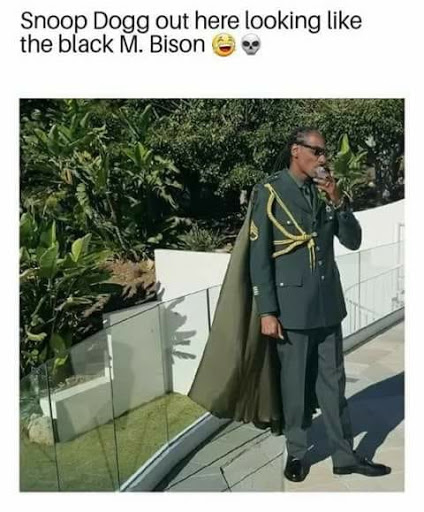 Snoop dog out here looking like the Black M Bison