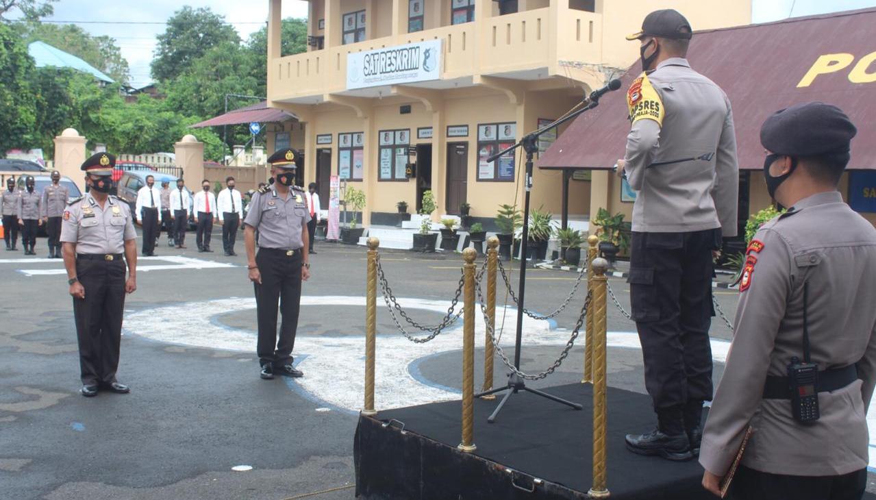 Kapolres Soppeng, Kenaikan Pangkat Merupakan Penghargaan dari Institusi Polri