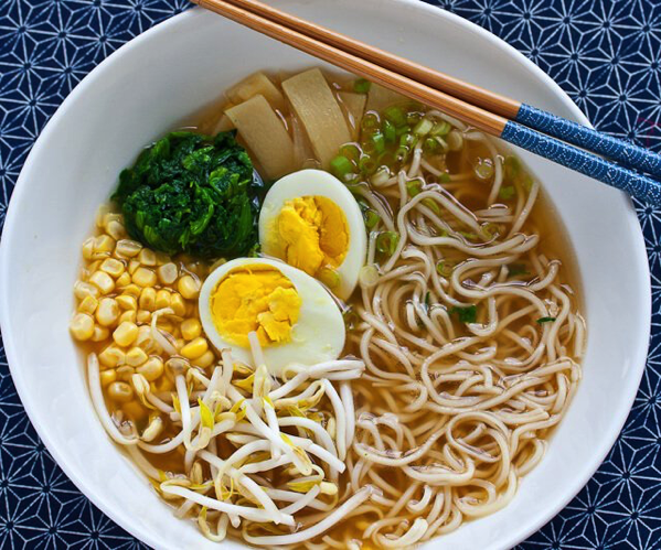 Miso Ramen Soup with egg