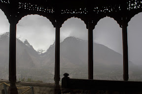 Rain joined us when we were visiting Baltit Fort, Hunza
