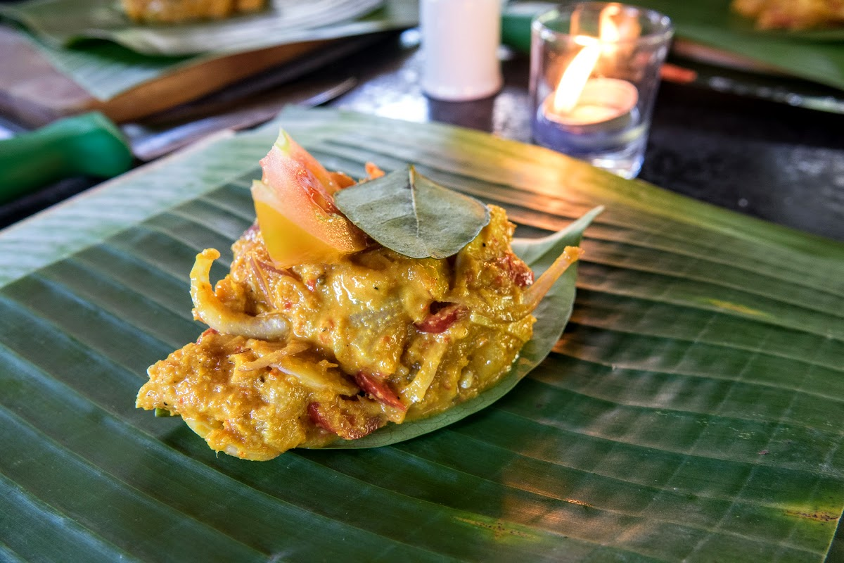Indonesia. Bali Cooking Class. Tum Ikan ready to be wrapped in banana leaves
