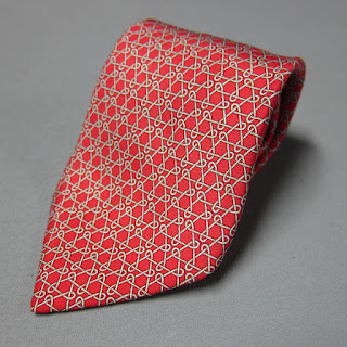 Hermès Red Silk Tie