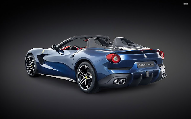 Ferrari F60 America Blue Color Wallpaper