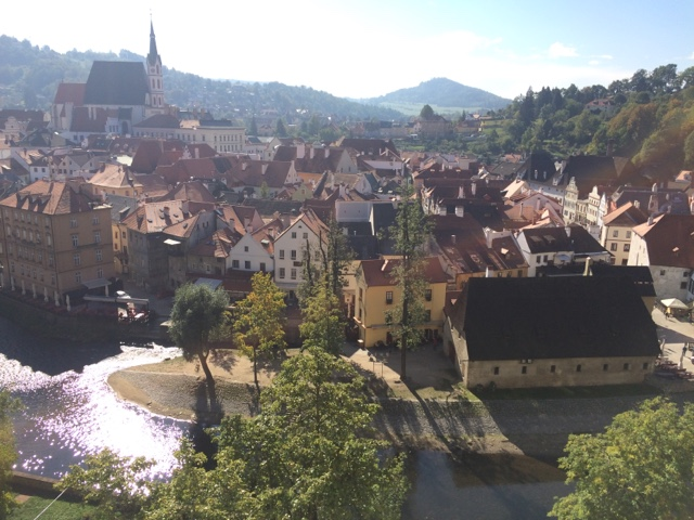"""From Prague we continued to the Czech Republics next most popular attraction, Česky Krumlov. We camped outside of town the day prior and woke in the morning to find quite heavy frost all around. We were very glad of the new heating system Hendrik had installed a few months back.<div><br /></div><div>We cycled into Cesky Krumlov. I don't remember how far it was but it was so hilly that it seemed a very long way on our Brompton bikes, and it was a cold start!</div><div><br /></div><div>Cesky Krumlov is sweet, but we only needed a morning there. And the frost was a clear sign to keep going South. Also, we were wanting to view more landscapes rather than city and townscapes.</div><div><br /></div><div><div><div><a href=""""https://lh3.googleusercontent.com/-HaW3hB1Fc1U/VhTtWlBQeAI/AAAAAAAAC4k/HRpMBwymoaA/s640/blogger-image--790141013.jpg""""><img border=""""0"""" src=""""https://lh3.googleusercontent.com/-HaW3hB1Fc1U/VhTtWlBQeAI/AAAAAAAAC4k/HRpMBwymoaA/s640/blogger-image--790141013.jpg""""/></a></div><br /></div><div><br /></div><div><a href=""""https://lh3.googleusercontent.com/-TM_cirKmJzA/VhTtVi5-FnI/AAAAAAAAC4c/9LWfcQsz4-w/s640/blogger-image-1070415493.jpg""""><img border=""""0"""" src=""""https://lh3.googleusercontent.com/-TM_cirKmJzA/VhTtVi5-FnI/AAAAAAAAC4c/9LWfcQsz4-w/s640/blogger-image-1070415493.jpg""""/></a></div><br /></div>"""