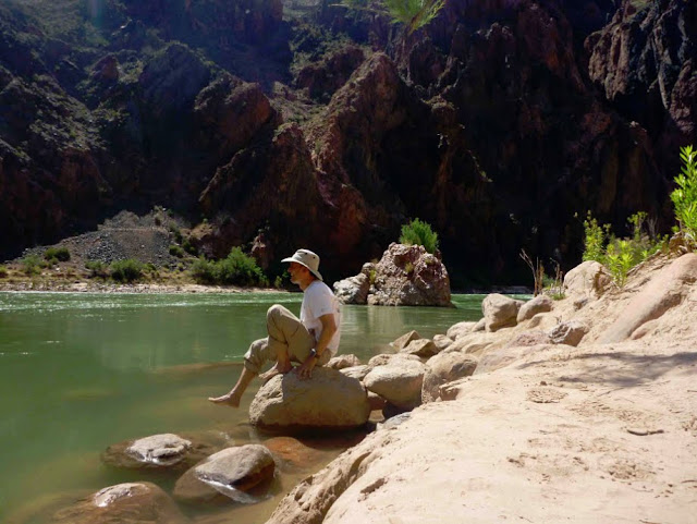 Taking a break at the Colorado River. Grand Canyon National Park. Lassoing the Sun: A Year in America's National Parks
