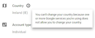 change google play account to different country