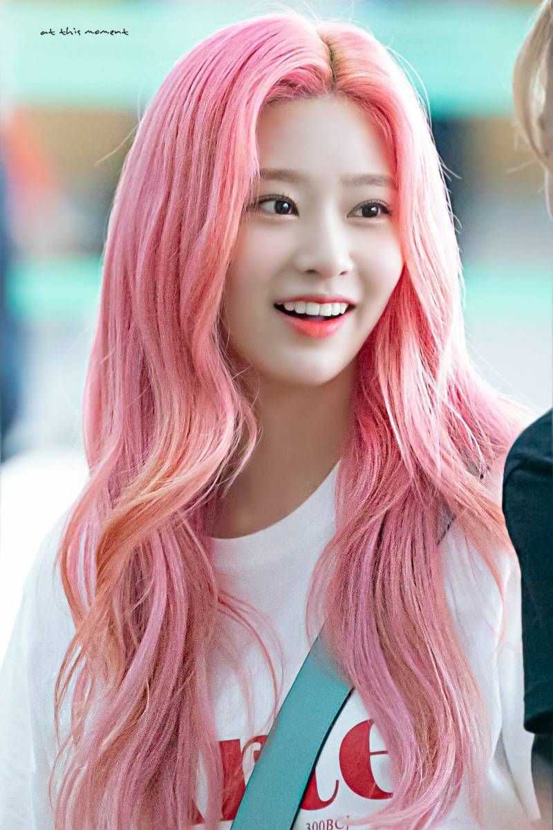 pink curly 22