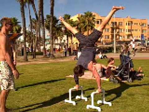 Tony And Jim Do Handstand Exercises, Tony Horton