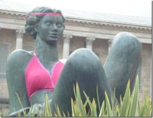 13 sculpture in victoria aquare bra is for breast cancer charity