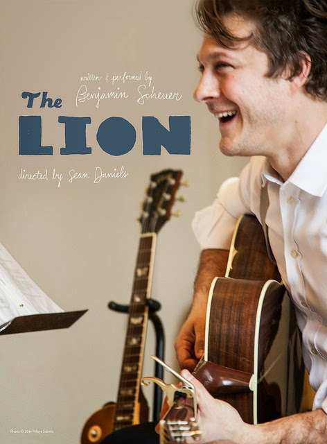 The Lion  Photo © 2014 Nilaya Sabnis.  Written and performed by Benjamin Scheuer Directed By Sean Daniels May 2 - June 14, 2015 http://pcs.org/lion/