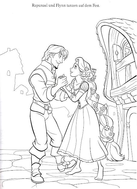 Flynn  Rapunzel Disneys Tangled Coloring Page