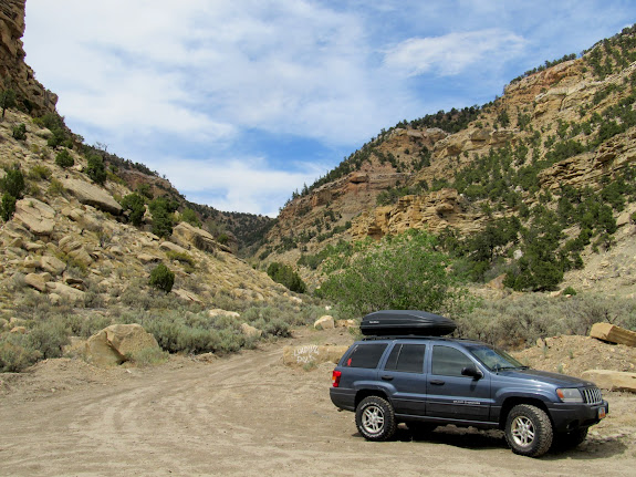 Parked in Spring Canyon near the old townsite of Peerless