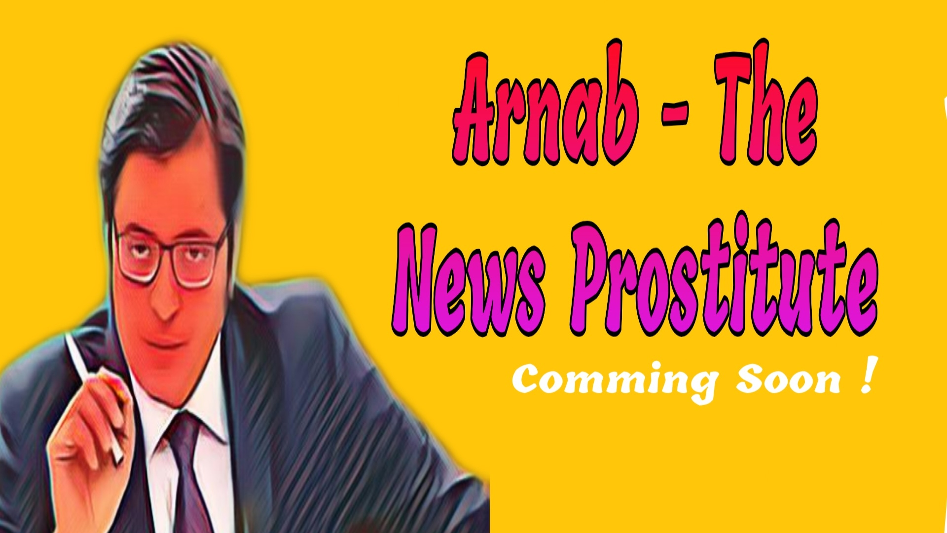 Arnab the news prostitute poster