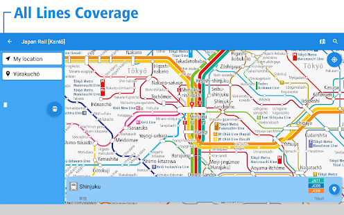 Japan Rail Map Tokyo Osaka Android Apps On Google Play - Tokyo japan 3d map