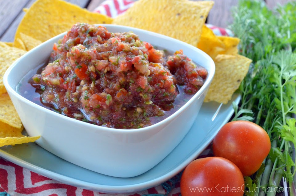 Chipotle Cherry Tomato Salsa from KatiesCucina.com