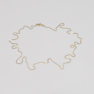 14K Gold Box Chain Necklace #1