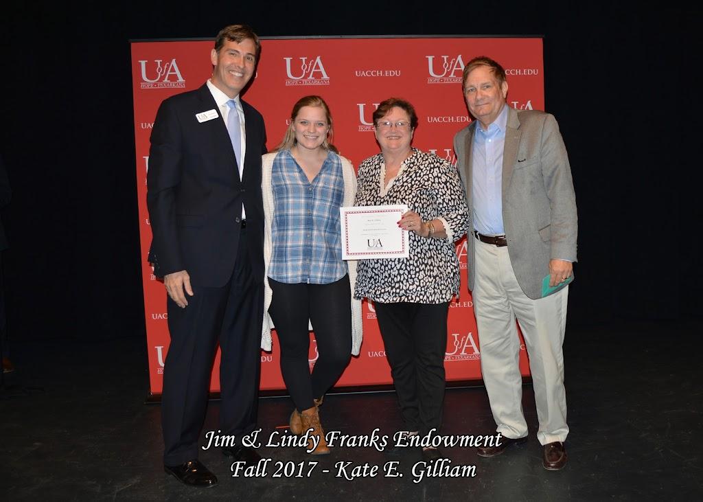Fall 2017 Foundation Scholarship Ceremony - Jim%2B%2526%2BLindy%2BFranks%2BEndowment.jpg