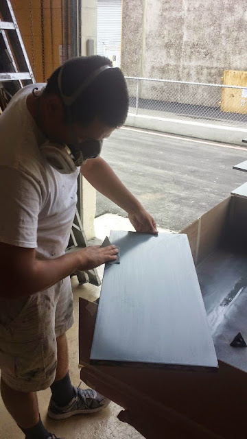 Sanding for a smooth finish