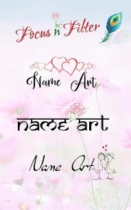 Focus n Filter – Name Art 7