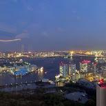 Tokyo Bay night view in Shinagawa, Tokyo, Japan