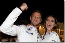 Jenson Button con la fidanzata Brittny Ward