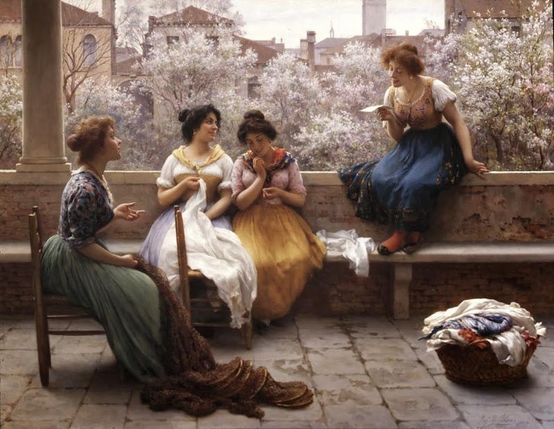 Eugene de Blaas - Love Letter