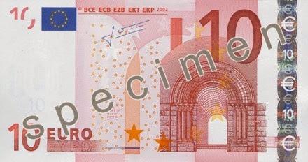 gambar uang kertas 10 euro