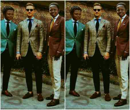 Trending fashion of Aki and Paw paw as tall guys
