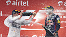 Rosberg gives Vettel a decent Champaign shower