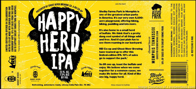 Ghost River Brewing & REI Collaborate On Happy Herd IPA