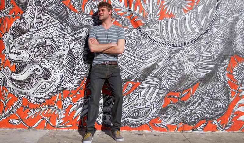 A Crazy graffiti wall and some handsome britches