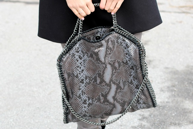 close-up of the Stella McCartney Falabella bag