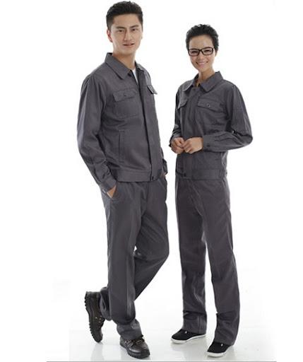 Quần áo bảo hộ lao động màu ghi xám - QAK0005