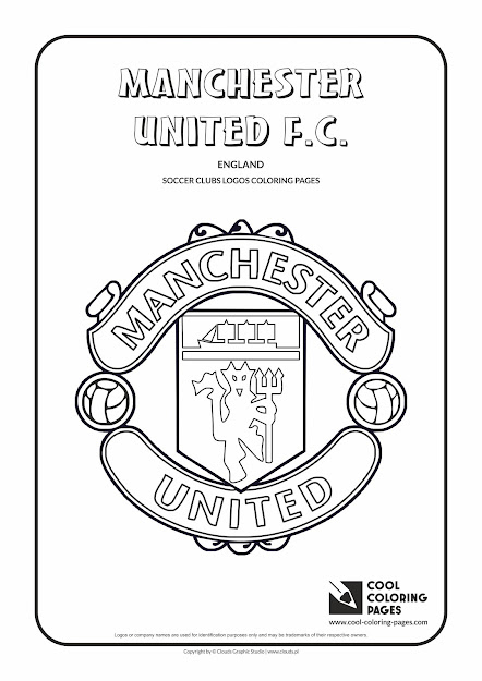 Cool Coloring Pages  Soccer Club Logos  Manchester United Fc Logo  Coloring  Page With