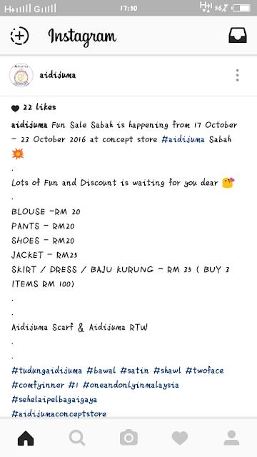 Aidijuma Fun Sale Sabah