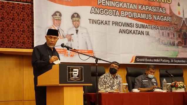 Gubernur: Nagari Harus Bisa Memanfaatkan Potensi untuk Tingkatkan Kesejahteraan