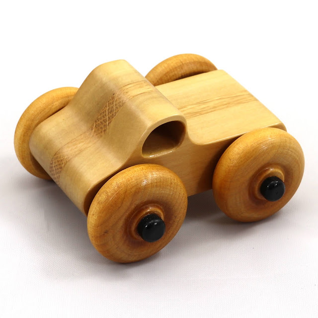 Handmade Wood Toy Monster Truck Based on the Play Pal Series