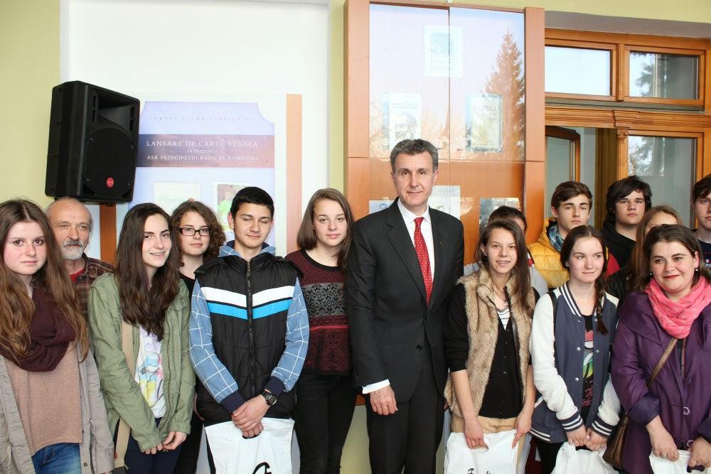 ASR Principele Radu - Lansare de carte regală la Biblioteca Județeană Bistrița