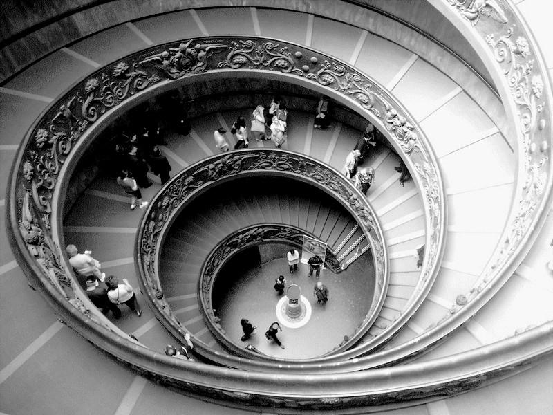 La scala dei Musei del Vaticano  di Mar955