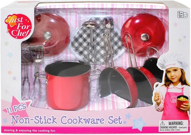 Bộ đồ chơi dụng cụ nhà bếp tiện dụng 11 món màu đỏ tráng men bền đẹp