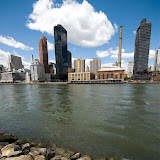 View on Upper East Side from Roosevelt Island. NYC