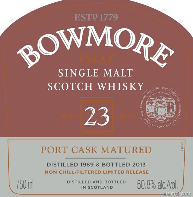 Bowmore Islay Single Malt Scotch Whiskey Port Cask Matured